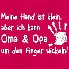 sprüche oma und opa oma und opa um den finger wickeln t shirt spreadshirt