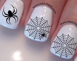 spider web nail decal spider set no2 halloween nail wrap by