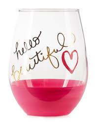 formation hello beautiful stemless wine glass stage stores