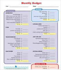 printable budget template 7 free pdf documents download free