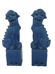 foo dogs vintage blue foo dogs anntiques