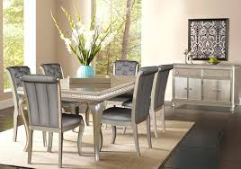 Hefner Platinum Dining Table Badcock Home Furniture  More Of - Badcock furniture living room set