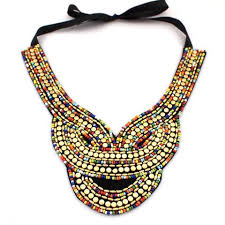 bib necklace beaded images Multi colored beaded bib necklace sitting pretty boutique jpg