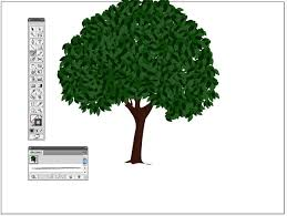 create a vector tree with custom brushes and the gradient mesh tool