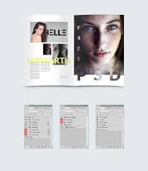 free psd magazine template free design resources
