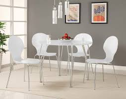 White Wood Dining Room Table by Amazon Com Novogratz Shell Bentwood Chair With Silver Chrome