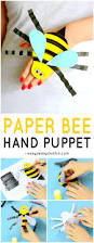 bee paper hand puppet template easy peasy and fun