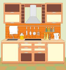 kitchen furnitur kitchen furniture interior stock vector colourbox