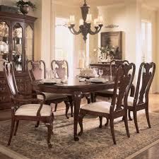 american drew cherry grove 7 piece leg dining room set in antique