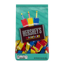 the hershey company hershey u0027s miniatures birthday assortment bag