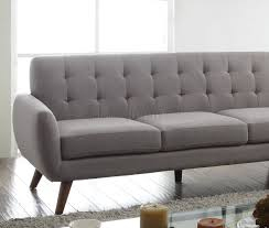 sectional sofa 52765 in light gray linen fabric by acme