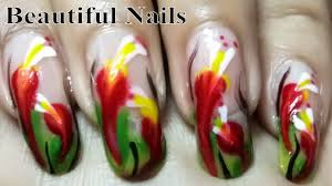 beautiful nails art designs at home colourful flower nail polish