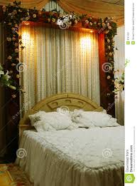 wedding bed decoration stock image image of banquet environment