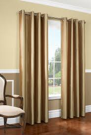 Gold Thermal Curtains Miller Faux Silk Insulated Grommet Panel Thermalogic