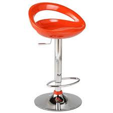 modern orange bar stools agnes adjustable barstool orange chrome bar stools