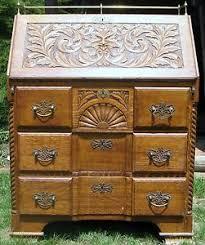 Drop Front Secretary Desk by Antique 1900 1950 Slant Drop Front Oak Secretary Desk Lionhead