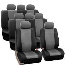 honda pilot seat covers 2014 amazon com fh fh pu002 1128 3 row pu leather car seat