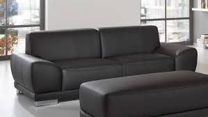 couch 3 sitzer manila 3 sitzer in schwarz mit federkern und vollschaum 218 cm