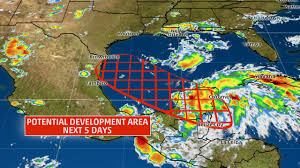 Weather Classic Map Harvey Likely To Come Back To Life In Bay Of Campeche Later This