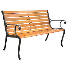 Garden Treasures Patio Chairs Shop Garden Treasures 50 5 In L Patio Bench At Lowes Com