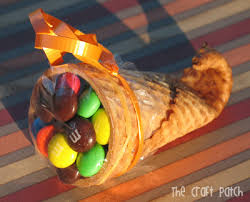thanksgiving cornucopia favor treat craft preschool