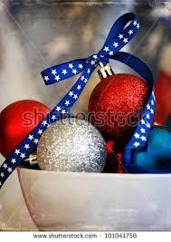 bowl full red white blue christmas stock photo 101041756