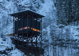 peter zumthor completes buildings for norwegian tourist trail