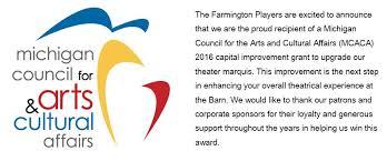 Comedy Barn Seating Chart Farmington Players