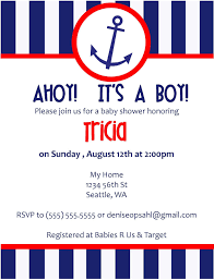 nautical baby shower invitations nautical invitations template best template collection