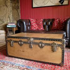 rh trunk coffee table home table decoration