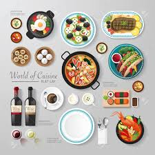 infographic food business flat lay idea vector illustration