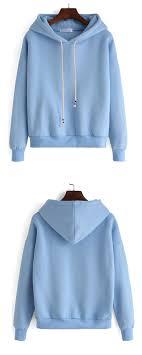 plain light blue hoodie plain hooded drawstring loose sweatshirt in blue that s so adorable