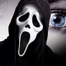 scary masks event party supplies white pvc realistic scary