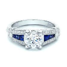 art deco diamond and sapphire engagement rings nd clssic squre