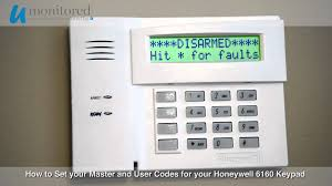 how to set the master and user codes on your honeywell 6160 alarm