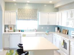 interior stunning white subway tile backsplash on kitchen with