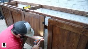outdoor kitchen cabinet doors diy diy outdoor kitchen by and sons workshop