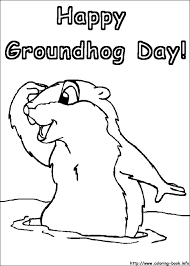 Groundhog Color Page Groundhog Day Coloring Pages On Coloring Book Info