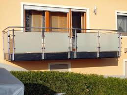 edelstahl balkon mit glas balkongeländer wohnideen center