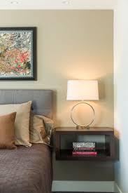 bedroom entrancing laminate wood brown black mirror nightstand