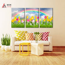 Home Decoration Painting by Online Get Cheap Rainbow Wall Painting Aliexpress Com Alibaba Group