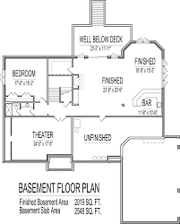 One Level House Plans With Basement 4 Bedroom 2 Story House Floor Plans In K Luxihome