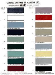 Exterior Paint Chart - 1965 chevelle paint codes
