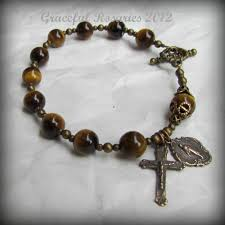 rosary bracelets men s rosary bracelet gold tigereye gemstones solid
