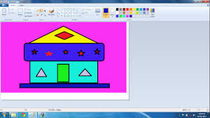 Home Design Software Microsoft Basic Ms Paint Class How To Draw A Home In Microsoft Paint Youtube