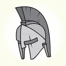 sparta helmet isolated vector stock vector image 47081901