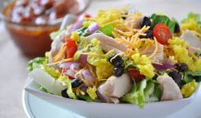 Chicken Main Dish - chicken taco salad recipe salsa vinaigrette healthy chicken