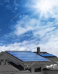 solar panels on roof solar panels on house rooftop u2014 stock photo anterovium 13678384