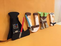 Little Lights Daycare Star Wars Wood Letters Characters Are Darth Vader Luke Yoda