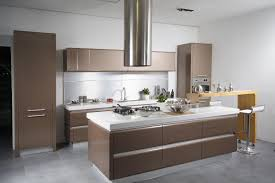 Contemporary Kitchen Lighting by Kitchen Floating Wooden Kitchen Cabinets Brown White